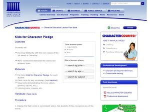 Kids for Character Pledge Lesson Plan