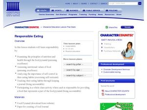 Responsible Eating Lesson Plan