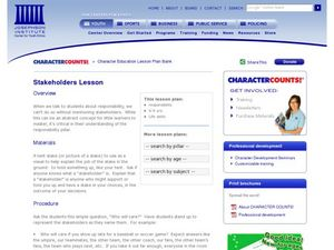 Stakeholders Lesson Lesson Plan