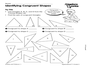 Identifying congruent shapes Worksheet
