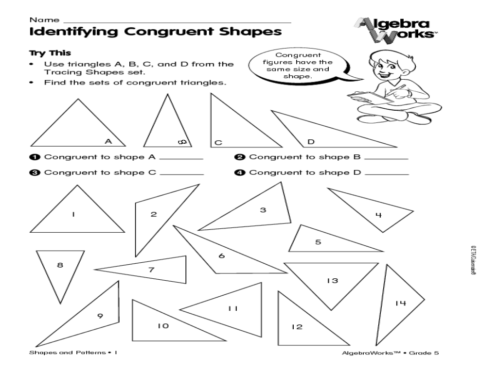 Free Worksheet Congruent Figures Worksheet identifying congruent shapes 2nd 5th grade worksheet lesson planet