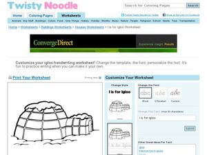 igloo coloring pages teachers - photo#48