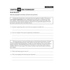 DNA Technology Worksheet