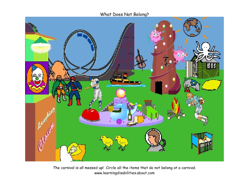 worksheet Which Does Not Belong Worksheet circle what does not belong lesson plans worksheets at the carnival