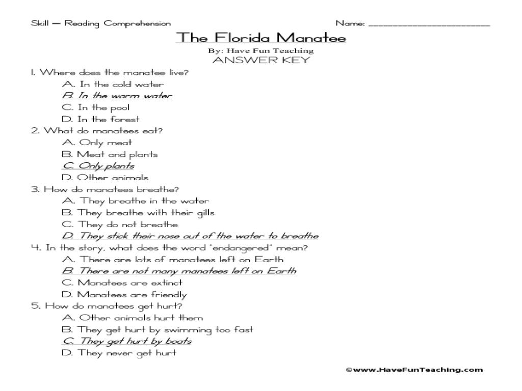 Reading Comprehension Worksheets 2nd Grade Multiple Choice Deployday – Reading Comprehension with Multiple Choice Questions Worksheets