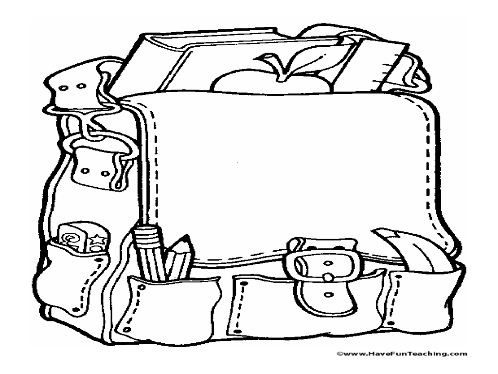 Coloring Activity: School Backpack Worksheet for Pre-K