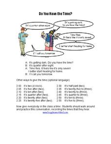 Do you have the time? Worksheet