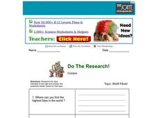 Do the Research! Worksheet