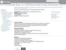 The Art and Science of Impressionist Color Lesson Plan