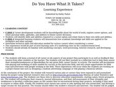 Do You Have What It Takes? Lesson Plan