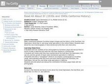 Read All About It! California History of the 30s and 40s Lesson Plan