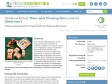 Does Your Chewing Gum Lose Its Flavor? Lesson Plan