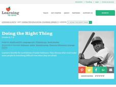 Doing the Right Thing Lesson Plan