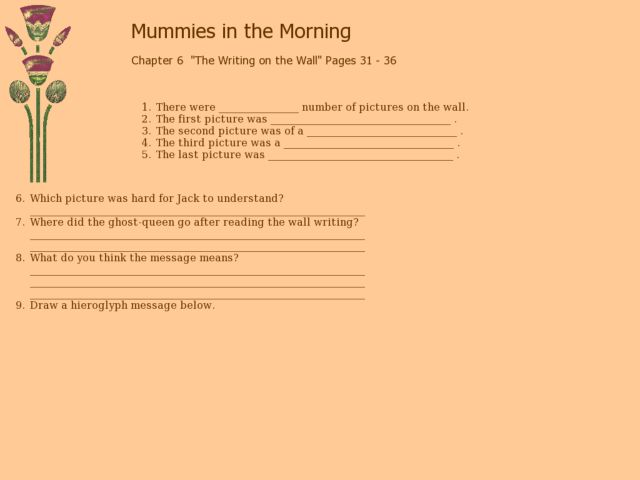 Mummies in the Morning - Chapter Six Lesson Plan