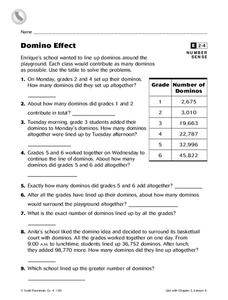 Domino Effect Worksheet