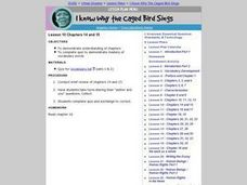 I Know Why the Caged Bird Sings: Chapters 14 and 15 Lesson Plan