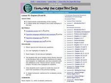 I Know Why the Caged Bird Sings: Chapters 29, 30 Lesson Plan
