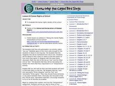 I Know Why the Caged Bird Sings: Human Rights at School Lesson Plan