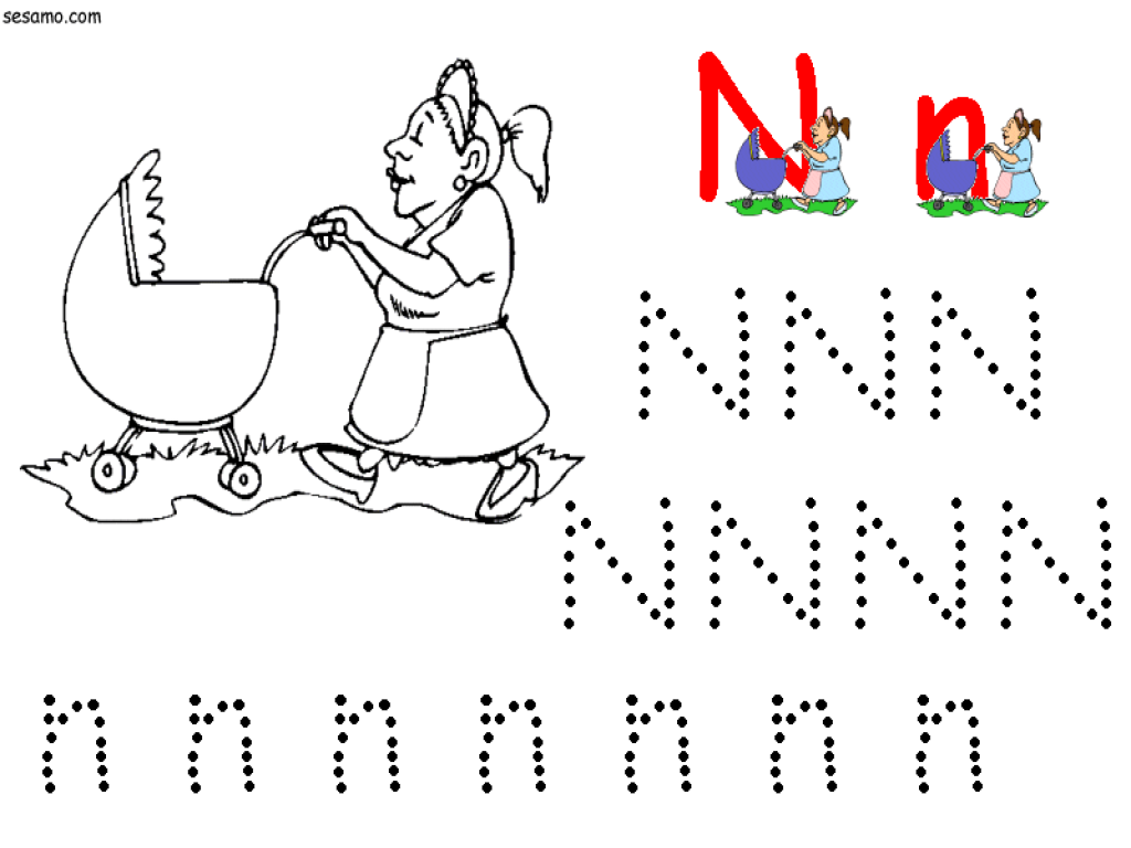 Handwriting: N Is For Nanny Lesson Plan for Kindergarten