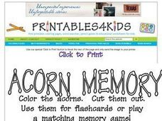 Acorn Memory: Multiplication Worksheet
