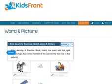 Kids Learning Exercise -Match Word & Picture: Z Interactive