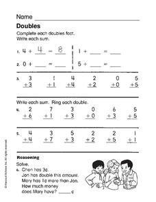 Doubles Worksheet