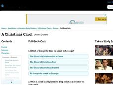 A Christmas Carol Quiz Interactive