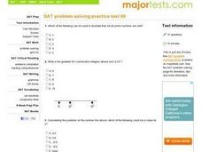SAT Problem Solving Practice Test 06 Worksheet