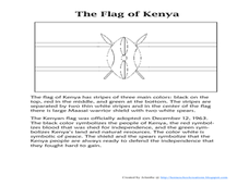 The Flag of Kenya Worksheet