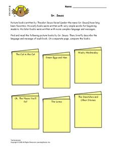Dr. Seuss Lesson Plan