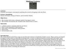 Making Craters   Lesson Plan