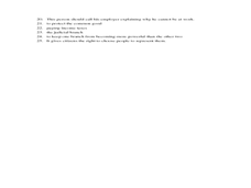 United States Government    5th Grade Worksheet