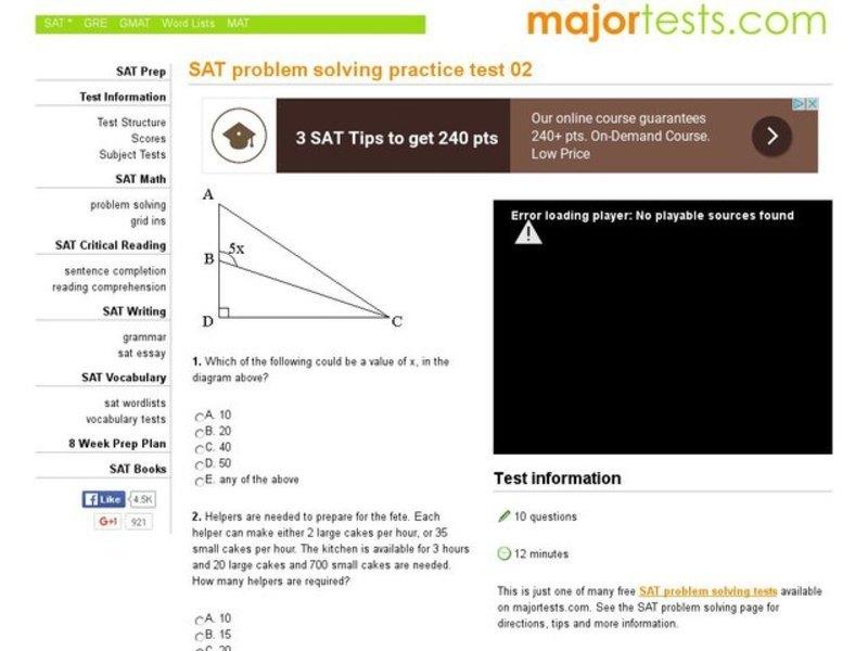 sat problem solving