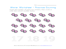 Counting Mittens Worksheet