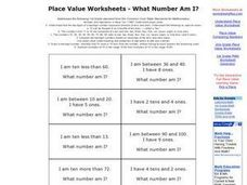 Place Value Worksheets - What Number Am I? Worksheet