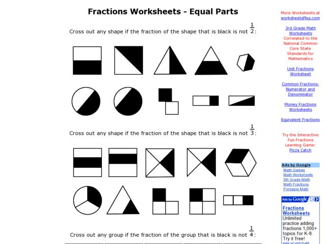 Fractions Worksheets Reviewed By Teachers