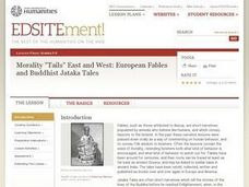 "Morality ""Tails"" East and West: European Fables and Buddhist Jataka Tales Lesson Plan"