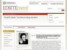 "Pearl S. Buck:  ""On Discovering America"" Lesson Plan"