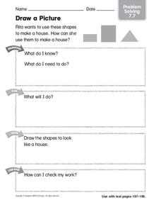 Draw a Picture: Problem Solving Worksheet