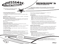 Mission 2: Fitness Benefits Lesson Plan