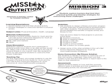 Mission Nutrition: Fitness Challenge Lesson Plan