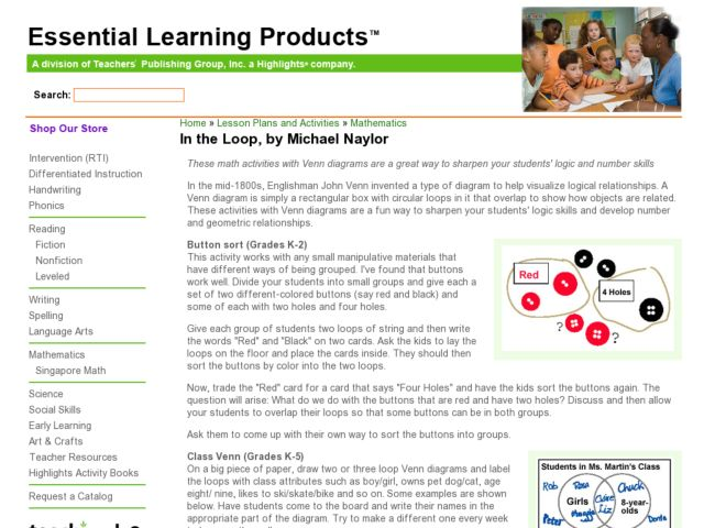 In the Loop Lesson Plan