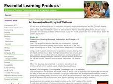 Art Immersion Month, by Neil Waldman Lesson Plan