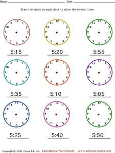 Draw the Hands on the Clock #2 Worksheet