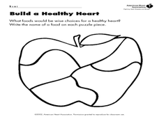 How To Build A Healthy Heart Worksheet