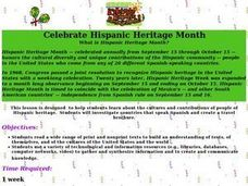 celebrate hispanic heritage month lesson plan for 4th 6th grade