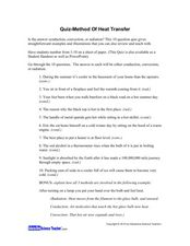 Heat Transfer Lesson Plans & Worksheets | Lesson Planet