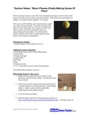 Moon Phases - Finally Making Sense of Them Lesson Plan