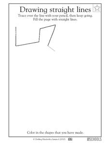 Drawing Straight Lines Worksheet