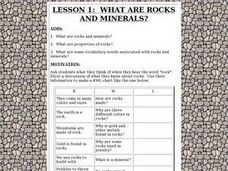 What are Rocks and Minerals? Lesson Plan
